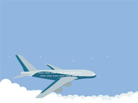 airplane ppt template fly airlines backgrounds for presentation ppt