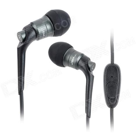 Jbm Earphone Mj 6600 jbm mj6600 stylish 3 5mm in ear earphone for cell phone mp3 mp4 pc black free
