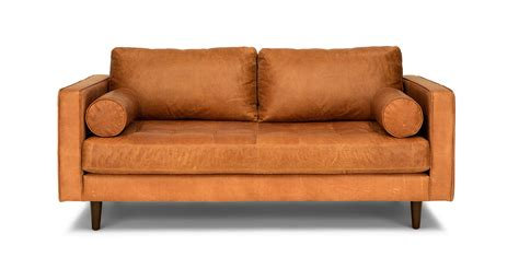 article sven sofa review sven charme tan 72 quot sofa sofas article modern mid