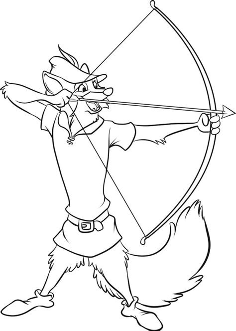Robin Hood Coloring Pages Coloring Robin Disney