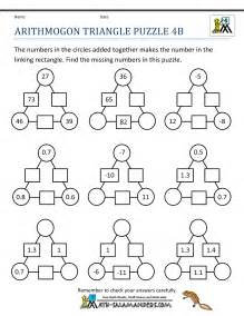 Printable Puzzles Free Math Puzzles 4th Grade