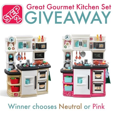 Step2 Great Gourmet Kitchen Set Neutral by Step2 Great Gourmet Kitchen Set Giveaway The Homespun Chics