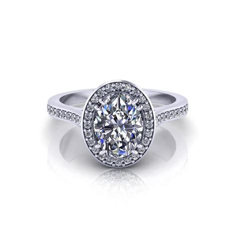 halo oval engagement ring jewelry designs