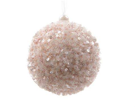 12 x large blush pink sequin decorated christmas tree