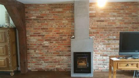 Resistant Tiles Fireplaces by Reclaimed Xviii Century Brick Slips