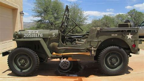 ww2 jeep side view fs 45 mb 417508 in se az sold g503 vehicle