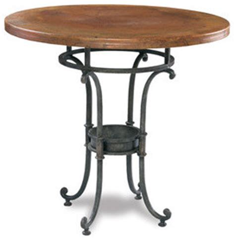 copper top bar table pub table 38 diameter copper top png
