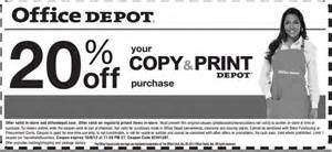 Office Depot Poster Printing Office Depot 20 Copy Print Printable Coupon