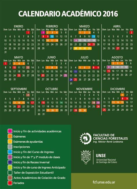 Calendario Academico Facultad De Ciencias Forestales Unse Calendario Acad 233 Mico