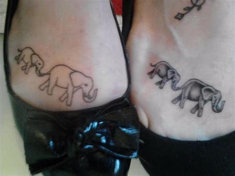 matching elephant tattoos matching elephant tattoos mine is on the right it s