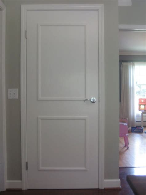 Plain Interior Door by Adding Molding And Paint To 60s Brown Flat Plain Interior