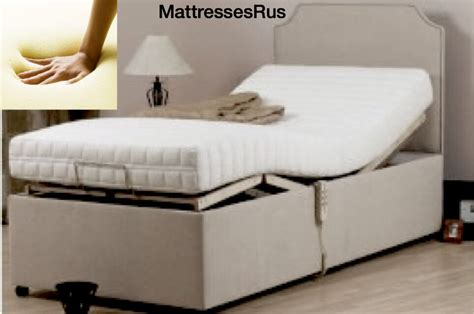 memory foam mattress only for adjustable electric bed with zip cover 25cm ebay