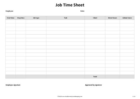job time sheet template hashdoc