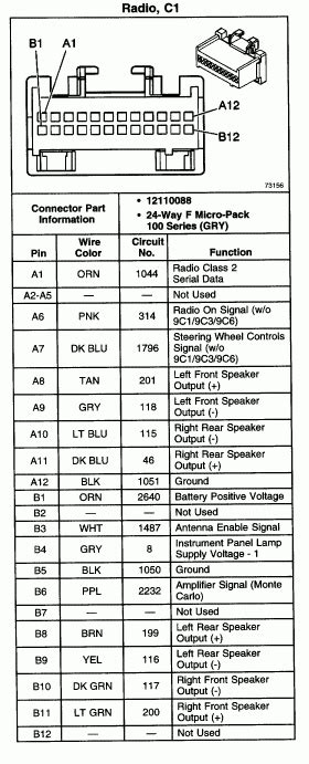 2006 chevy impala stereo wiring diagram wiring diagram