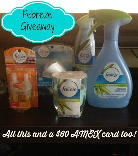 American Express Gift Card Refill - win a 60 american express card from febreze