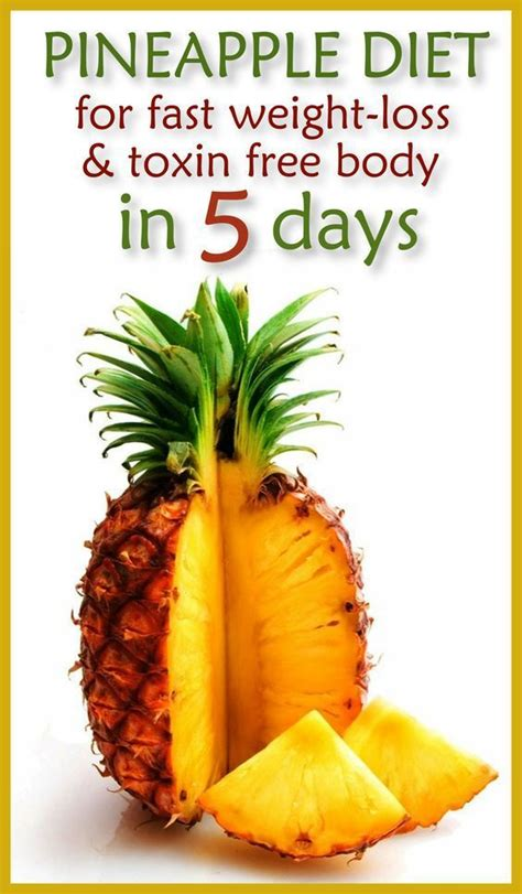 Pineapple Detox Water For Weight Loss by Pineapple Diet For Fast Weight Loss And Toxin Free In