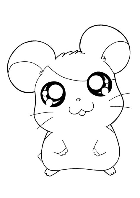 Coloriages &187 Hamtaro sketch template