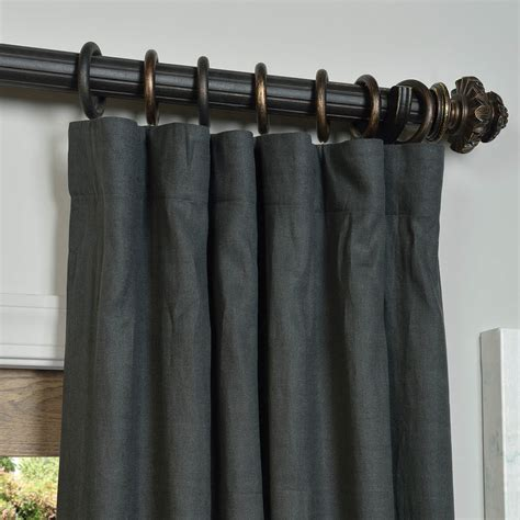 charcoal drapes charcoal french linen curtain half price drapes