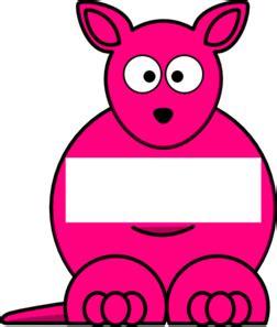Boneka Kangaroo W Baby Pink pink sightword kangaroo clip at clker vector
