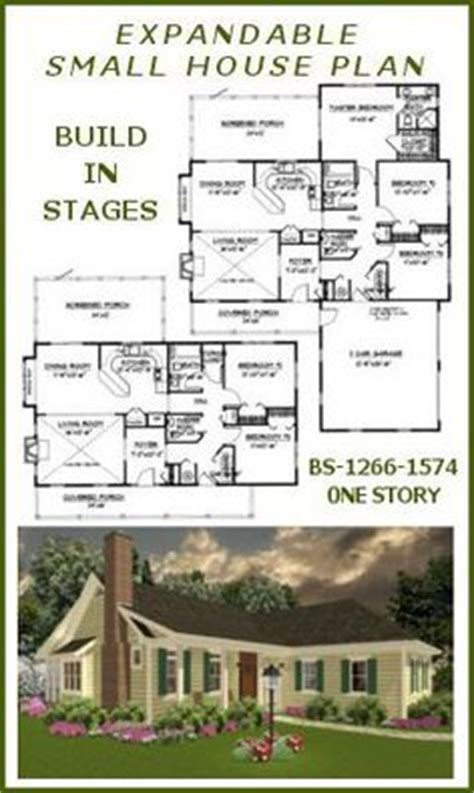 build in stages house plans expandable home plans on pinterest house plans cottage