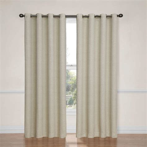 Ivory Blackout Curtains Eclipse Nadya Blackout Smokey Blue Polyester Curtain Panel 84 In Length Price Varies By Size