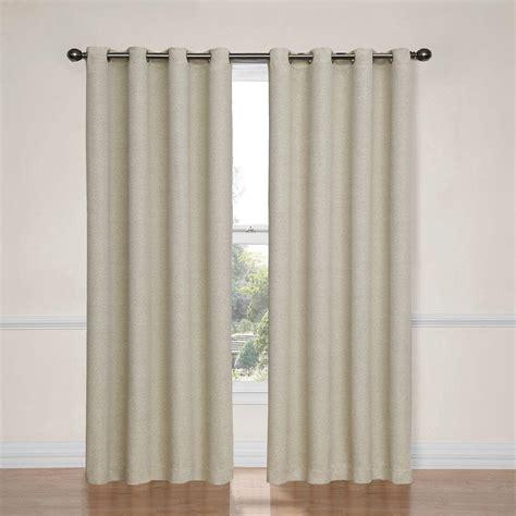 eclipse curtains eclipse nadya blackout smokey blue polyester curtain panel
