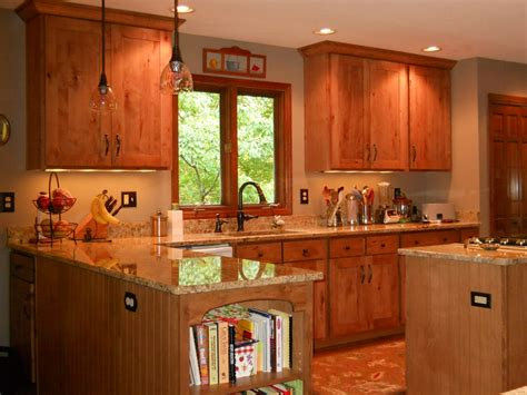 rustic maple kitchen cabinets refaced kitchen in rustic maple stained adding new wall