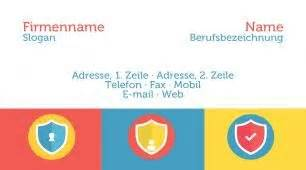 Visitenkarten Nach Vorlage by Visitenkarten Vorlagen Sicherheit Schutz