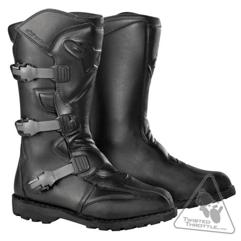 mens waterproof motorcycle boots alpinestars scout waterproof s motorcycle boot