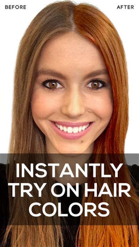 test hair color on photo hair color app review apppicker