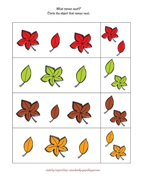 fall leaves printable activities preschool printables autumn fall preschool pinterest