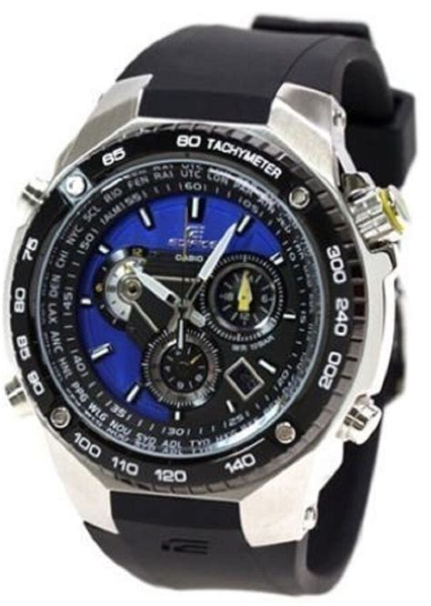 casio efe  mens edifice chronograph blueblack dial