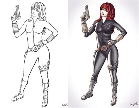 the avengers black widow coloring pages www imgkid com