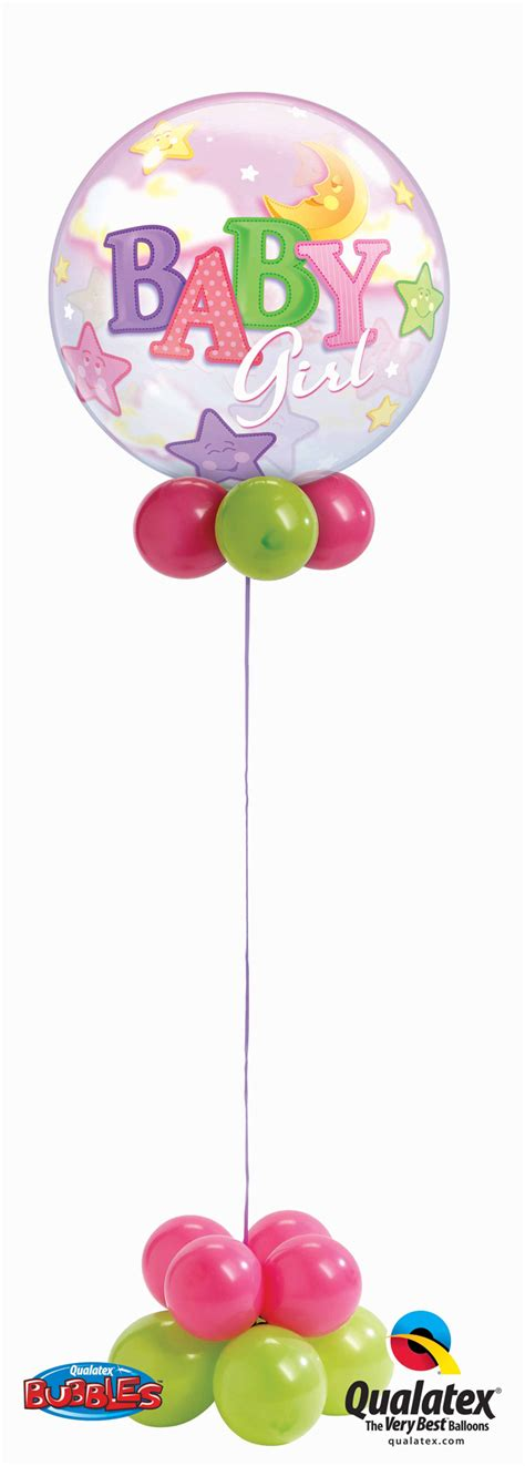 Welcome Home Decor baby girl bubble balloons are fun