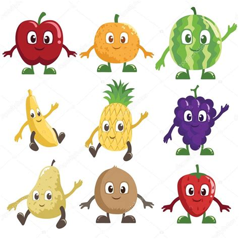 frutti free z price fruits characters stock vector 169 artisticco 12382098