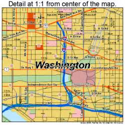 Washington Dc Street Map by Washington District Of Columbia Street Map 1150000