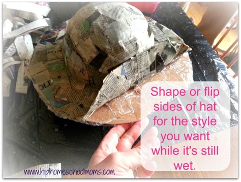 How To Make Paper Mache Hats - paper mache hats hip homeschool