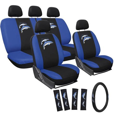 Dolphin Car Seat Covers In Chennai Suv Truck Seat Cover Embroidered Blue Dolphin Logo