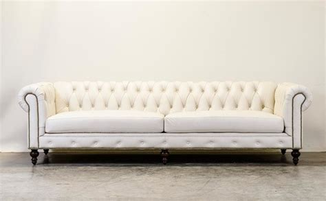 White Chesterfield Sofa White Chesterfield Traditional Sofas And Sectionals By Cococo Home Inc