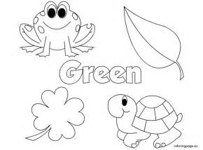 green coloring pages the color green coloring page