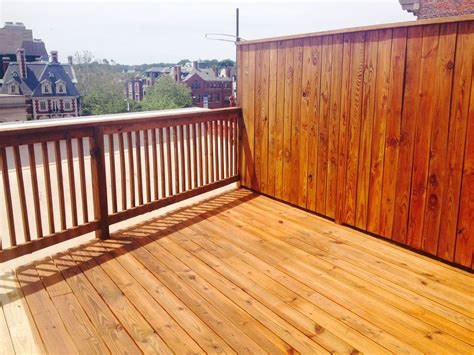 deck  fence staining natural oak sikkens stain yawata