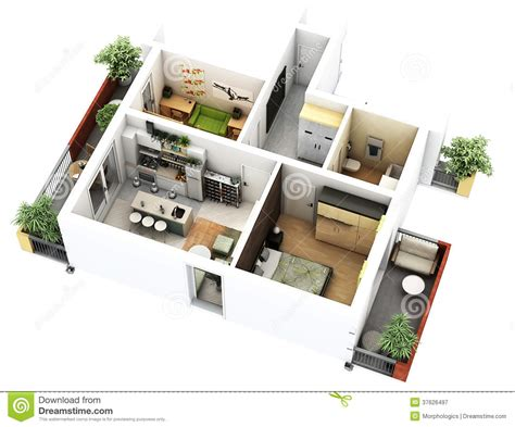 3d floor plan stock illustration image of design 3d floor plan stock illustration illustration of computer