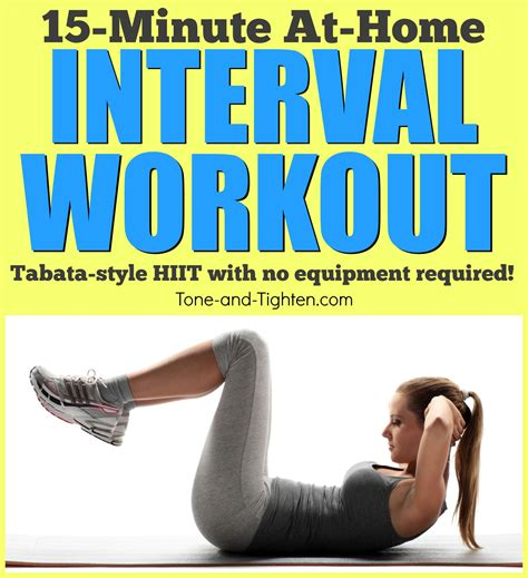 at home tabata interval workout with no equipment