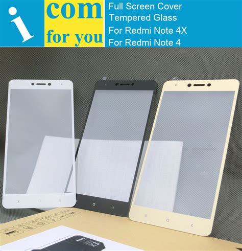 Kingkong Xiaomi Redmi Note 4x White Cover Tempered Glass Original screen cover protective tempered glass for xiaomi