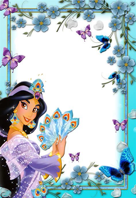 imagenes de cumpleaños jazmin frames png fotos princesas disney 3 imagens para photoshop