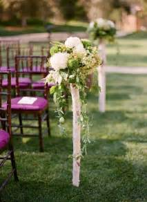 Outdoor Wedding Ceremony Aisle Decorations by Pew Markers Aisle Decor A Collection Of Ideas To Try