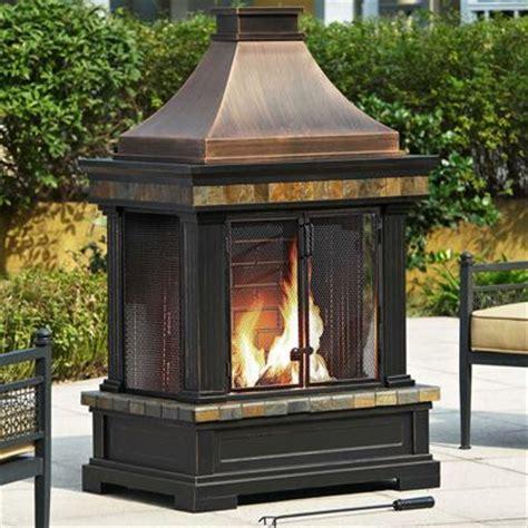 sunjoy princeton outdoor fireplace covered patio
