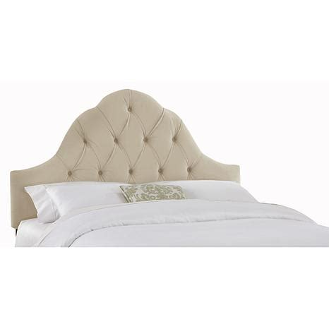 tufted arched headboard velvet arch tufted headboard 10058742 hsn