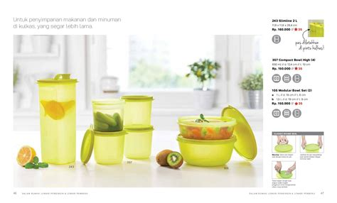 Tupperware Seal Tutup Compact Bowl High Handy Bowl D 11cm fridge collection pondok tupperware surabaya