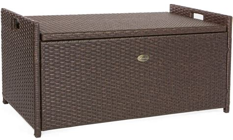 rattan outdoor storage bench storage benches insteading